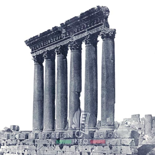 Legion Etrangere - 1935 - Temple of Jupiter - Baalbek - Lebanon