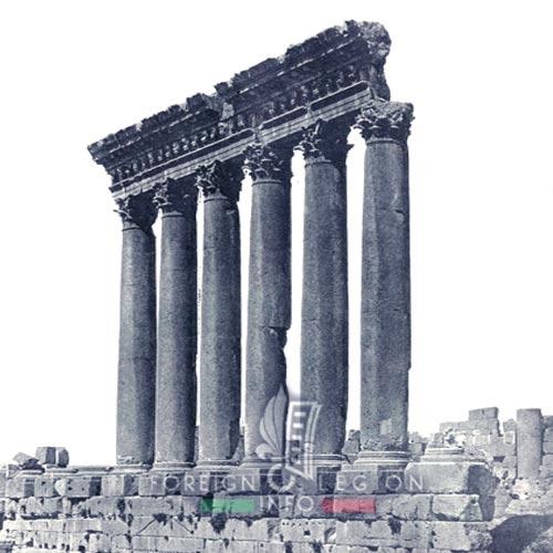 Foreign Legion - 1935 - Temple of Jupiter - Baalbek - Lebanon