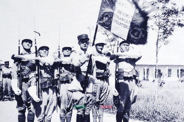 6e REI - 6 REI - Legion Etrangere - 1940 - Drapeau - Couleurs - Homs - Syrie - Levant