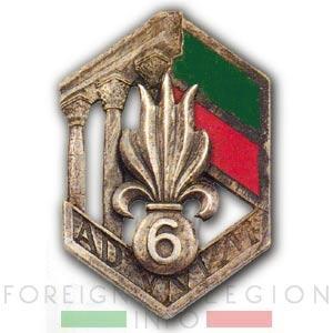 6e REI - 6 REI - Foreign Legion - Legion Etrangere - 1939-41 - Insignia - Badge - Levant