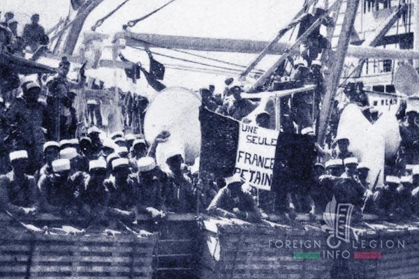 6e REI - 6 REI - Legion Etrangere - 1941 - Depart - Levant