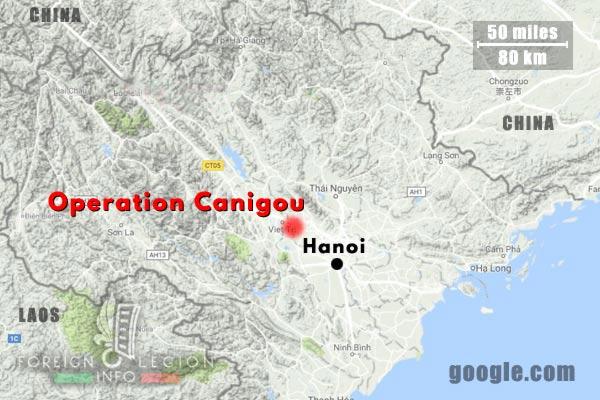 6e REI - 6 REI - Foreign Legion - 1949 - Tonkin - Operation Canigou - Map