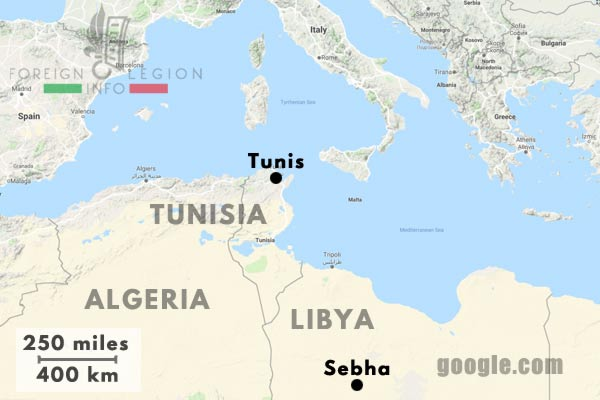 6e REI - 6 REI - Legion Etrangere - 1954-1955 - L'escorte des convois de la T.A.T. - Tunisie - Libye - Sebha