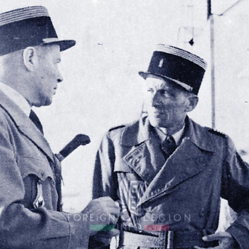 6e REI - 6 REI - Foreign Legion - 1954 - Major Etienne Georgeon - Colonel Laimay