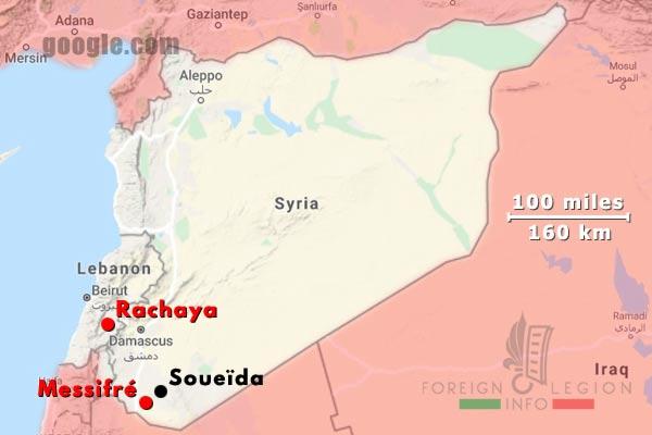 Legion Etrangere - Messifre - Syrie - 1925 - Rachaya - Liban - Map