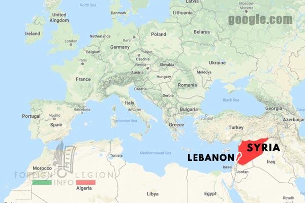 Levant - Lebanon - Syria - Map