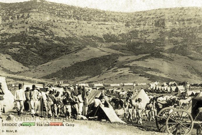 Morocco - Debdou - military camp - legionnaires - 1911