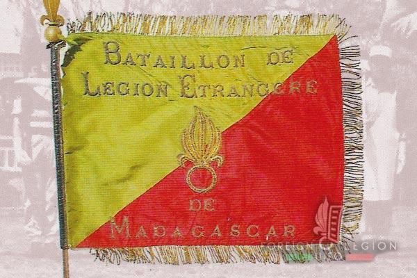 BLEM - Foreign Legion Madagascar Battalion - Foreign Legion Etrangere - 1957 - Madagascar - Fanion