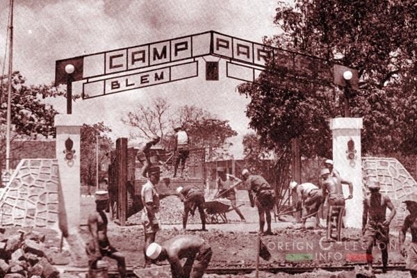 BLEM - Foreign Legion Madagascar Battalion - Foreign Legion Etrangere - 1957 - Diego Suarez - Madagascar - Camp Pardes - HQ - CCAS
