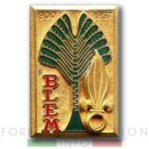 BLEM - Foreign Legion Madagascar Battalion - Foreign Legion Etrangere - 1957 - Madagascar - Insigne - Insignia - Badge