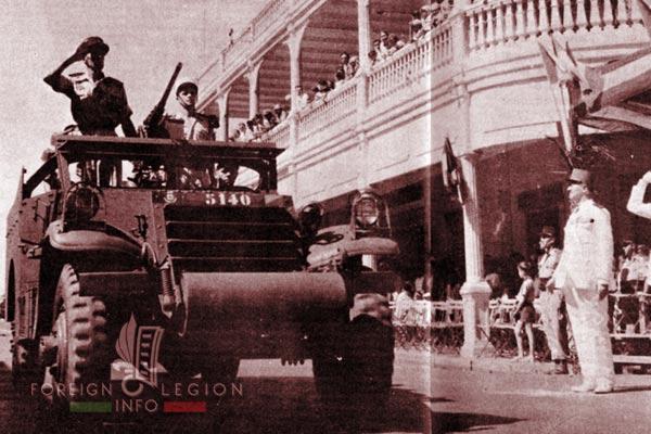 BLEM - Foreign Legion Madagascar Battalion - Foreign Legion Etrangere - 1958 - Madagascar - M8 Scout Car - Camerone - Diego Suarez