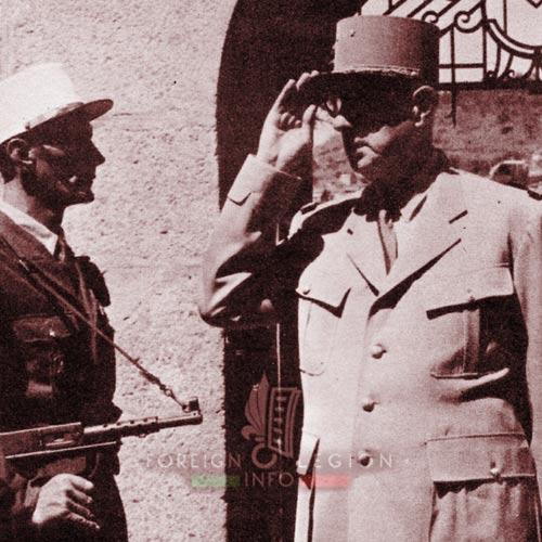 BLEM - Foreign Legion Madagascar Battalion - Foreign Legion Etrangere - 1958 - Madagascar - Tananarive - Charles de Gaulle