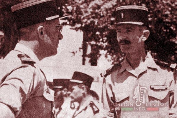 BLEM - Foreign Legion Madagascar Battalion - Foreign Legion Etrangere - 1959 - Sidi Bel Abbes - Algeria - Colonel Brothier - Captain Maestrali