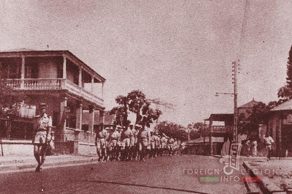 DLEM - Foreign Legion Madagascar Detachment - Foreign Legion Etrangere - 1956 - Diego Suarez - Madagascar - Parade