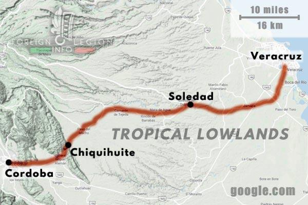 America - Mexico - Map - Cordoba - Soledad - Veracruz