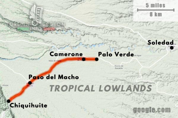 America - Mexico - Map - Camarón - Camerone - Palo Verde