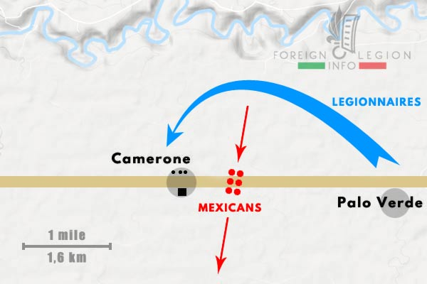 Battle of Camerone - Mexico - 1863 - Mexicans - Palo Verde - Camarón - Camerone