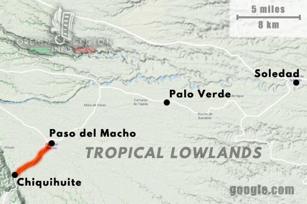 America - Mexico - Map - Chiquihuite - Paso del Macho