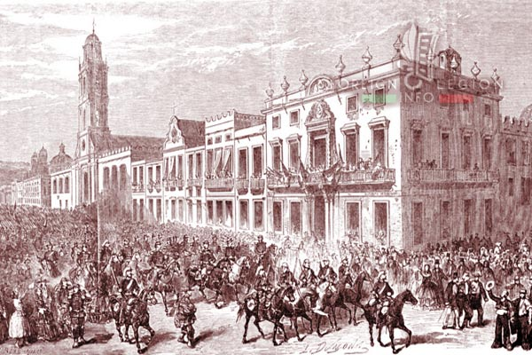 Mexico - Mexico City - 1863 - French troops