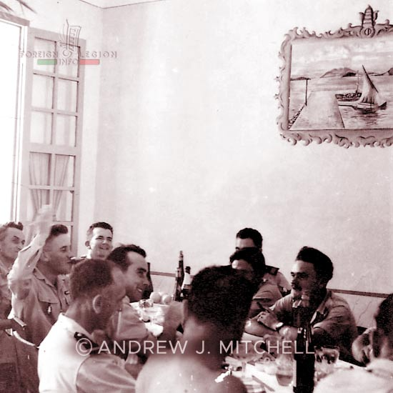 French Indochina - Tagne Island - Foreign Legion - Foreign Regiments Far East Disciplinary Company - CDRE EO - NCOs' mess - 1950s