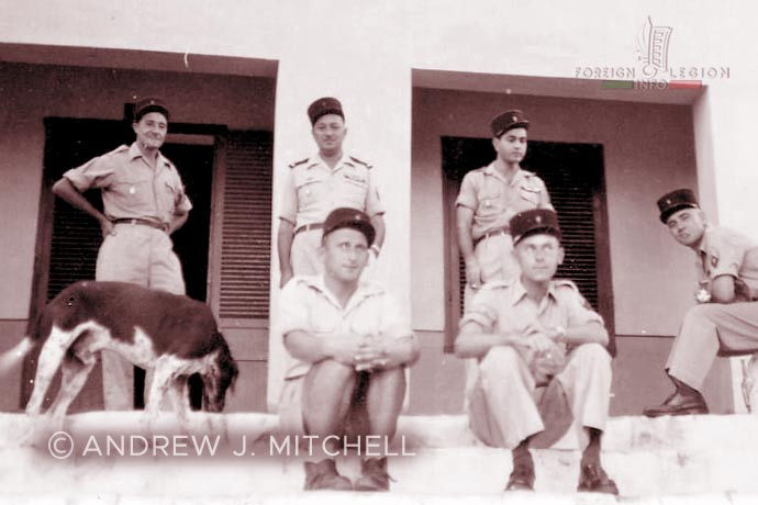 French Indochina - Foreign Legion - Foreign Regiments Far East Disciplinary Company - CDRE EO - NCOs - non-commissioned officers - 1950s