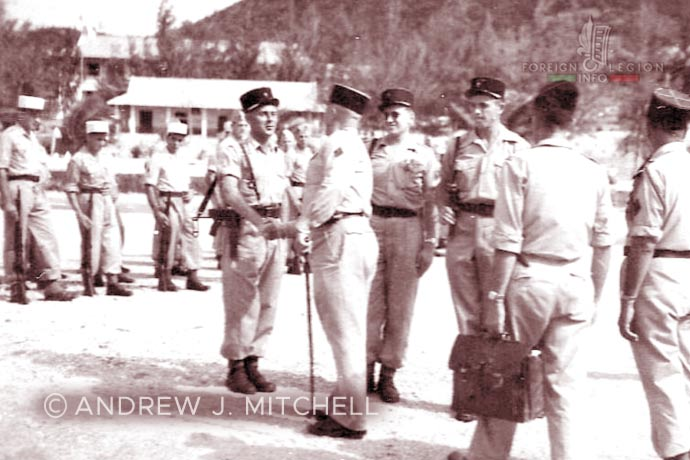 French Indochina - Tagne Island - Foreign Legion - Foreign Regiments Far East Disciplinary Company - CDRE EO - visite - 1950s