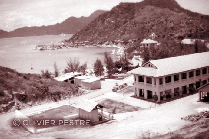 Indochina - Cam Ranh Bay - Tagne Island - Foreign Legion - Foreign Regiments Far East Disciplinary Company - CDRE EO - camp - building - 1955