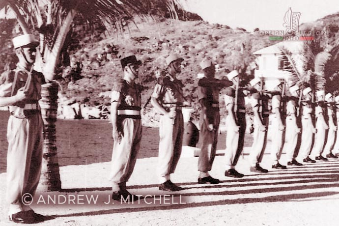 French Indochina - Tagne Island - Foreign Legion - Foreign Regiments Far East Disciplinary Company - CDRE EO - honor guard - 1950s