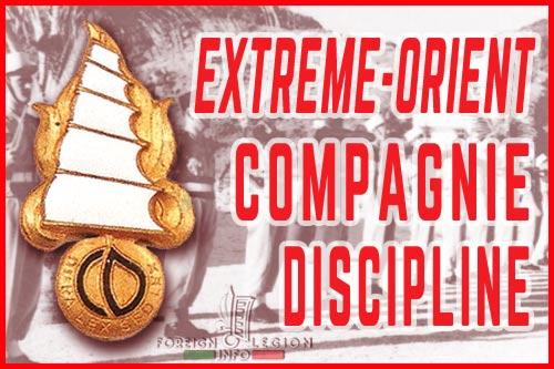 Compagnie de Discipline des Régiments Etrangers - Extrême-Orient - Légion étrangère - Historique