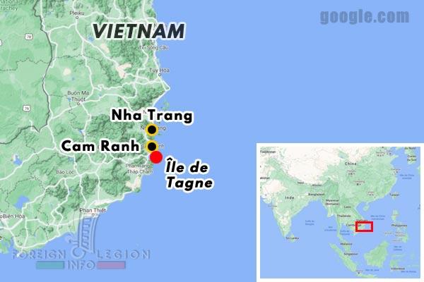 Vietnam - baie de Cam Ranh - carte