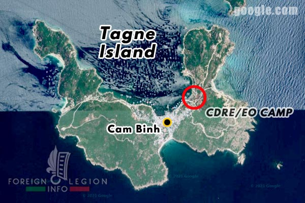 Vietnam - Cam Ranh Bay - Tagne Island - Foreign Legion - Foreign Regiments Far East Disciplinary Company - CDRE EO - camp - location