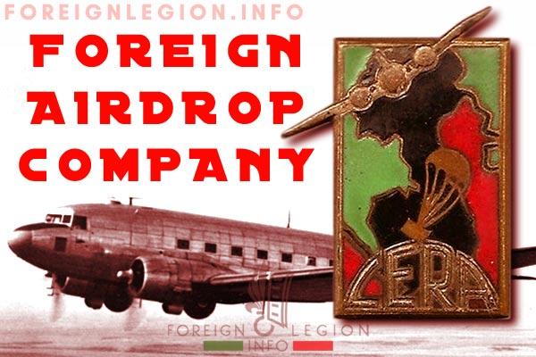 Compagnie Etrangère de Ravitaillement Par Air - CERA - Foreign Airdrop Company - History
