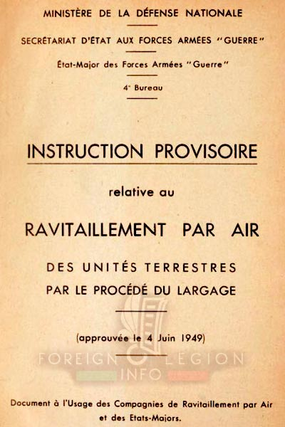 CRA - Airdrop Company - Manual - Instruction - Indochina - 1949