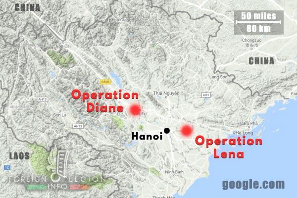 Cie Para - Parachute Company - 3 REI - Foreign Legion Etrangere - 1949 - Operation Diane - Operation Lena