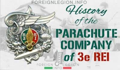 Parachute Company of 3e REI - History - Cie Para