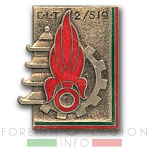 CLT 2/519 - CLT 2 - Legionnaire Transportation Company - Insignia - Badge - Indochina - 1949