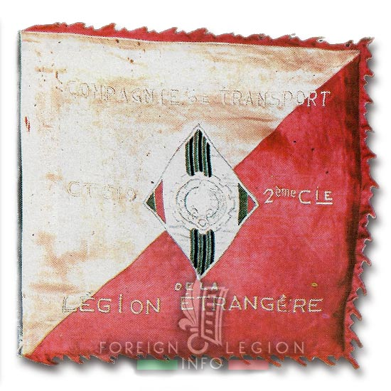 CTLE 2/519 - CTLE 2 - Foreign Legion Transportation Company - Fanion - Indochina - 1950