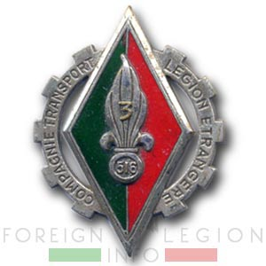 CTLE 3/516 - CTLE 3 - Foreign Legion Transportation Company - Insignia - Badge - Indochina - 1950