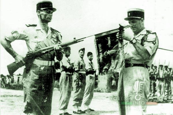Lieutenant Versteege - Lt-Col Laimay - Foreign Legion Transportation Company - Compagnie de Transport - 516e GT - 516 GT - Transportation Group - Indochina - 1949