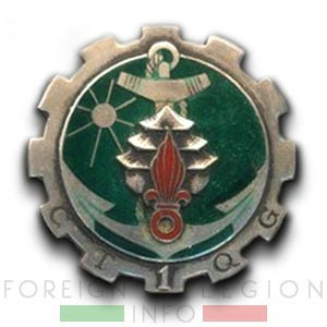 1re CTQG - 1 CTQG - Transportation & Headquarters Company - Insignia - Badge - Indochina - 1952