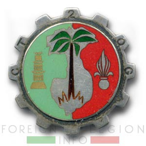 2e CTQG - 2 CTQG - Transportation & Headquarters Company - Insignia - Badge - Indochina - 1952