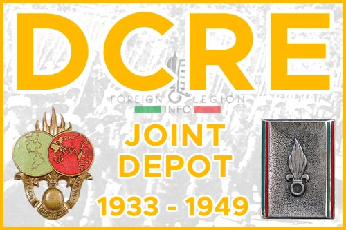 Foreign Regiments Joint Depot - History - DCRE