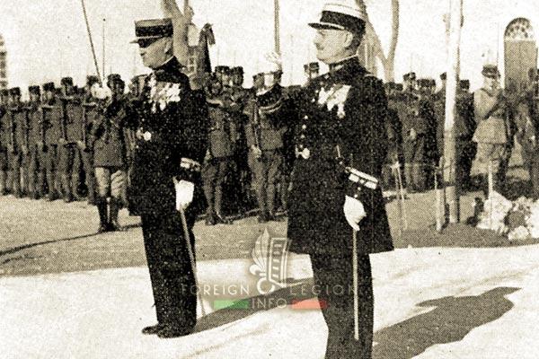 Colonel Debas - Lt Colonel Azan - Legion Etrangere - Algérie - Sidi-Bel-Abbès - Quartier Viénot - 1935