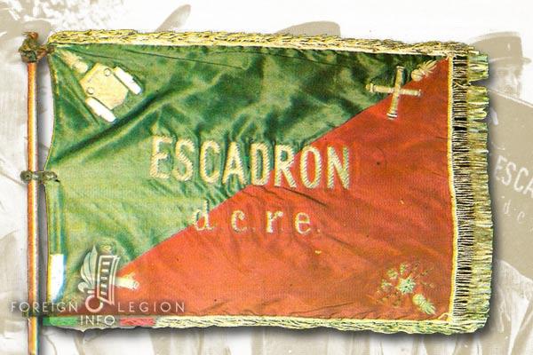 Escadron blindé - DCRE - Legion Etrangere - Fanion - 1942-1949