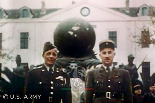 Colonel Barre - Général Eisenhower - Legion Etrangere - Algérie - Sidi-Bel-Abbès - Quartier Viénot - 1942
