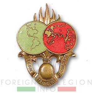 Dépôt Commun des Régiments Etrangers - DCRE - Legion Etrangere - Insigne - 1946