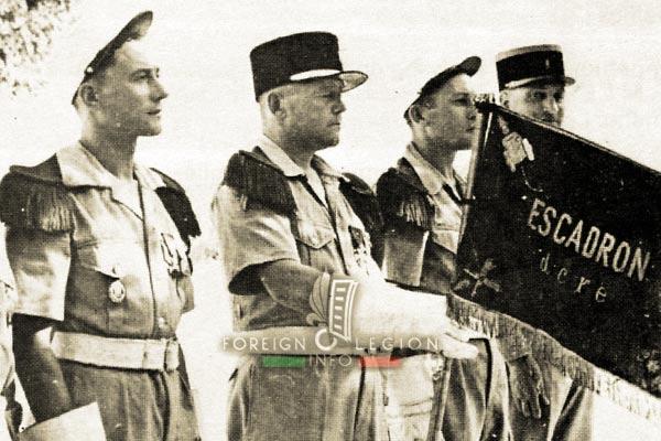 Escadron blindé - DCRE - Foreign Legion - Algeria - Fanion - 1947-1949