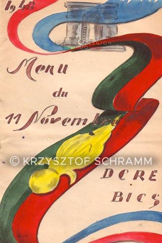 DCRE - Dépôt Commun - Legion Etrangere - Menu - 1948 - BICS