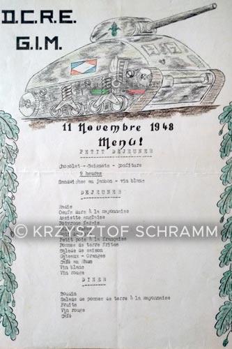 DCRE - Dépôt Commun - Legion Etrangere - Menu - 1948 - GIM
