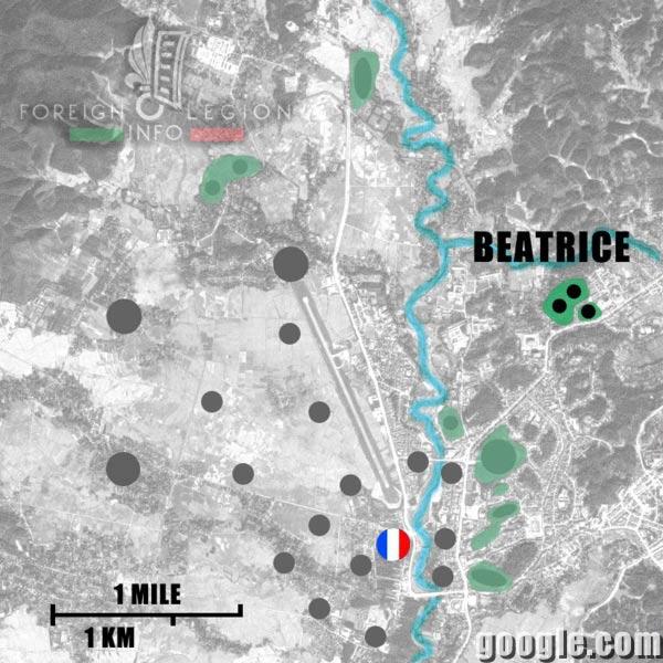 Dien Bien Phu - Beatrice - Location - 1954 - First Indochina War